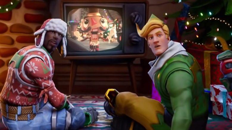 Fortnite Weihnachten Überraschung Fernseher Titel