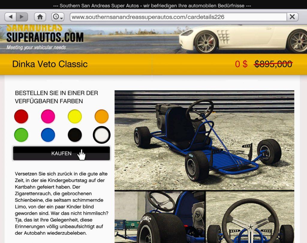 GTA Online Dinka Veto Classic SASA