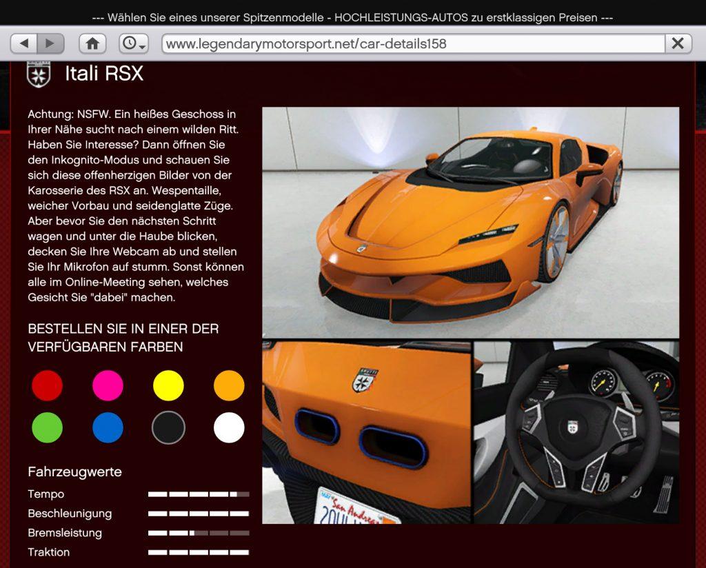GTA Online Itali RSX