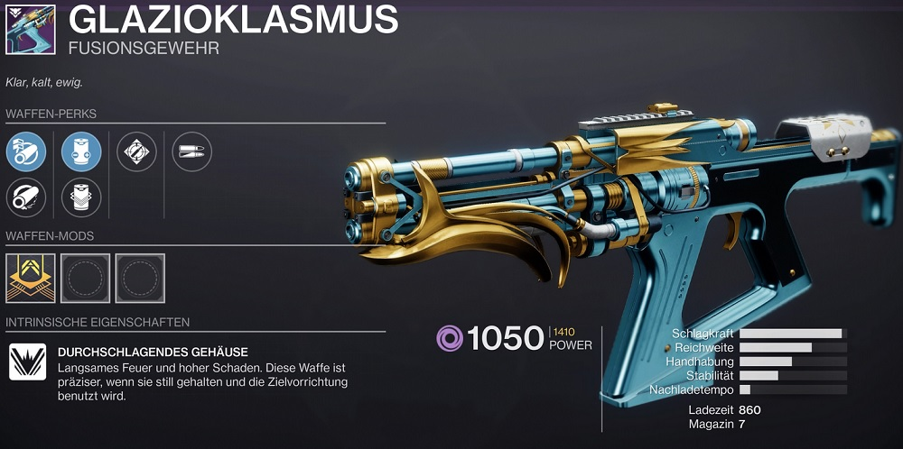 Glazioklasmus Destiny 2 Anbruch Fusion