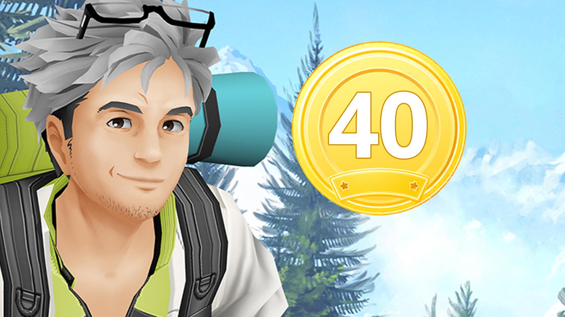 Pokémon GO Willow 40 Medaille