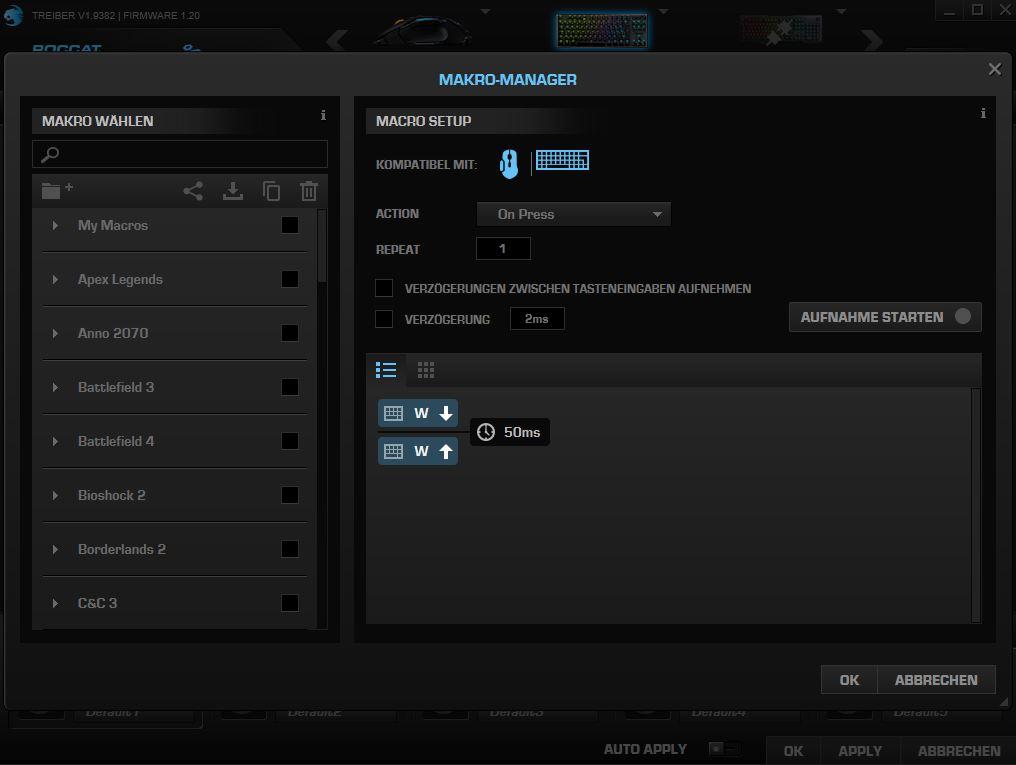 Roccat Software Makros