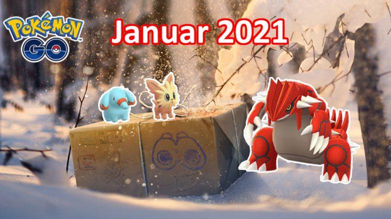 Pokémon GO: Events im Januar – 4 Rampenlichtstunden & 6 Raid-Bosse