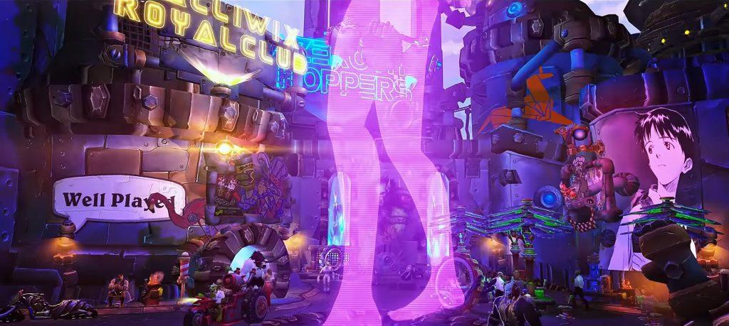 WoW Cyberpunk Holo Well Played Neon Genesis Evangelion
