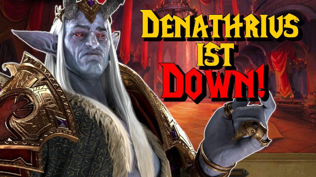 WoW Denathrius ist down title titel 1280x720