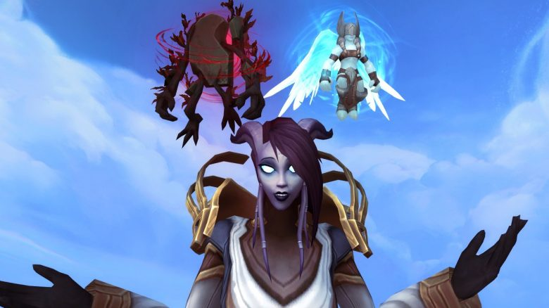 WoW Draenei Ask Devil Angel on shoulder titel title 1280x720