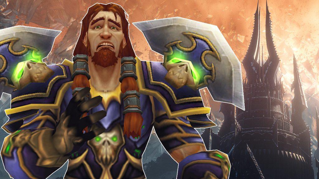 WoW Human Warrior cry sad titel title 1280x720