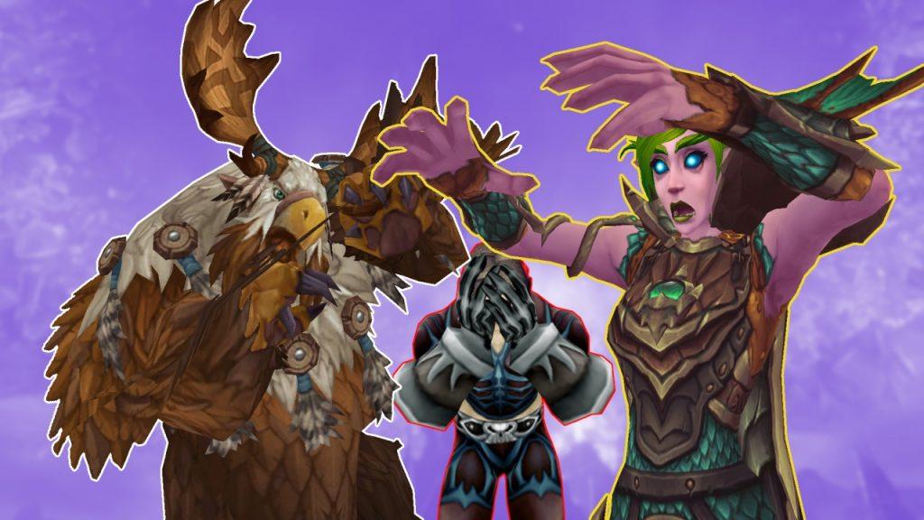 WoW Shadowlands DK Hunter Druid nerf Titel
