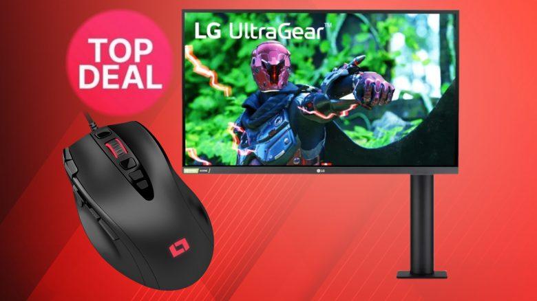 Günstige Gaming-Maus und LG-Spielemonitor zum Bestpreis bei Amazon