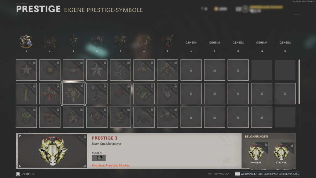 cod cold war prestige shop embleme