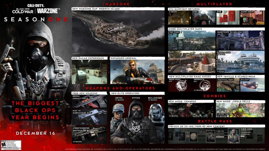 cod cold war warzone season 1 roadmap komplett