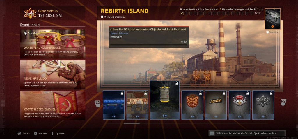 cod warzone rebirth event screen