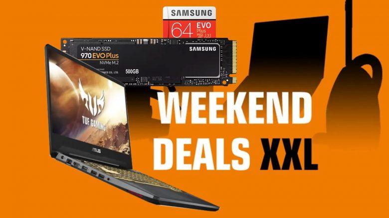 Saturn-Angebote: Samsung-SSD + microSD, Asus Gaming-Laptop & mehr