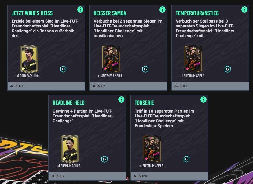 FIFA 21 Cunha Aufgaben
