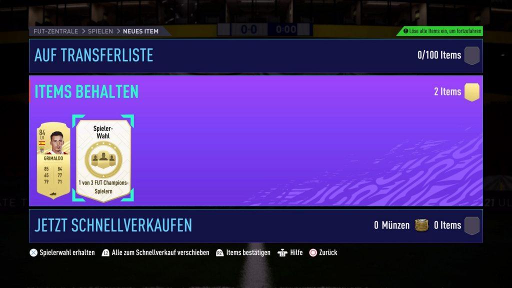 FIFA 21 FUT Champions Belohnung