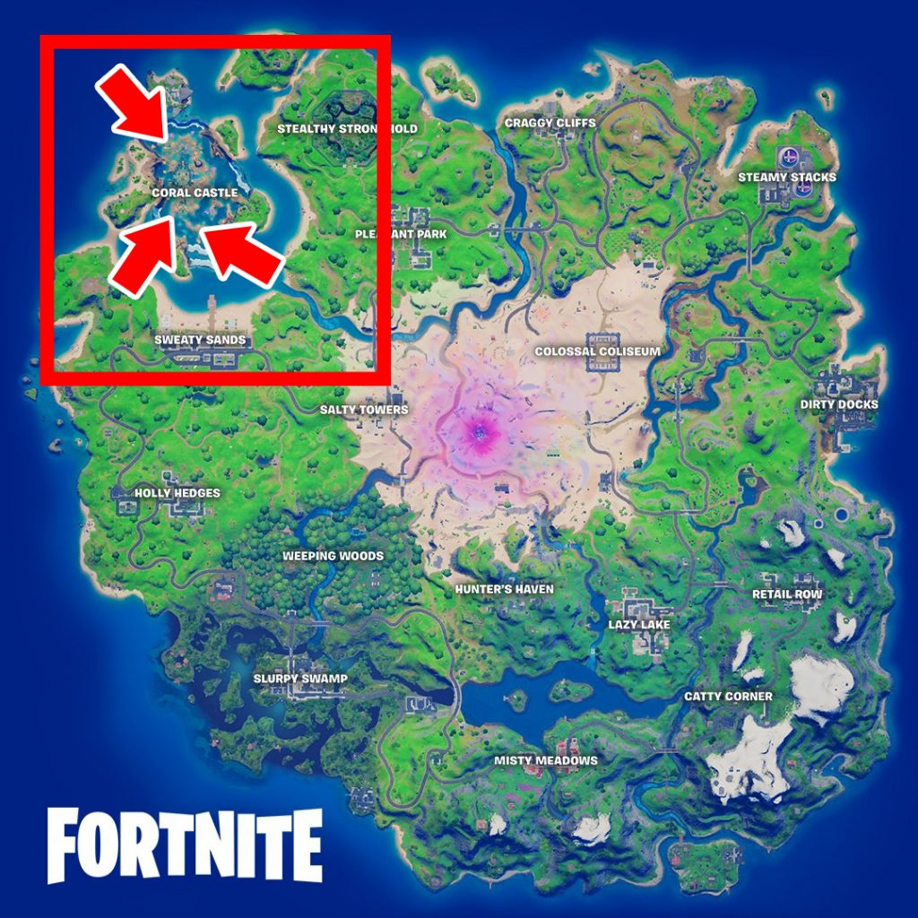Fortnite Muschelsignale Map Fundorte