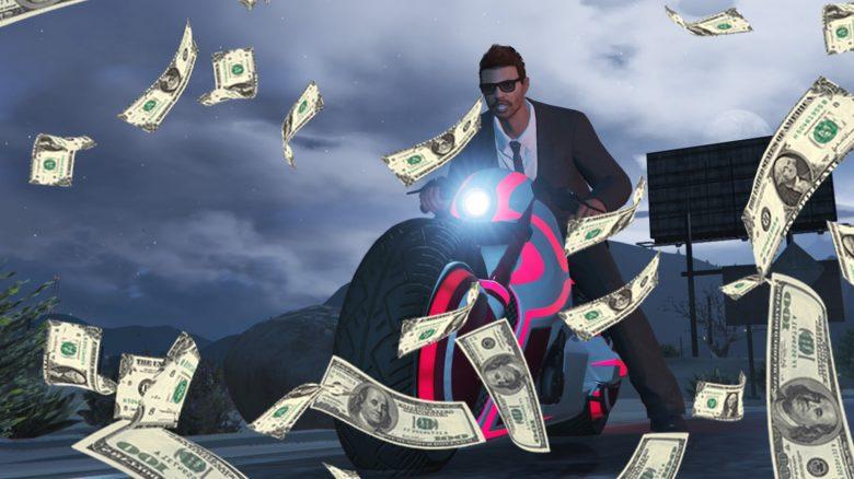 GTA Online Shotaro Motorrad Geld Money Titel