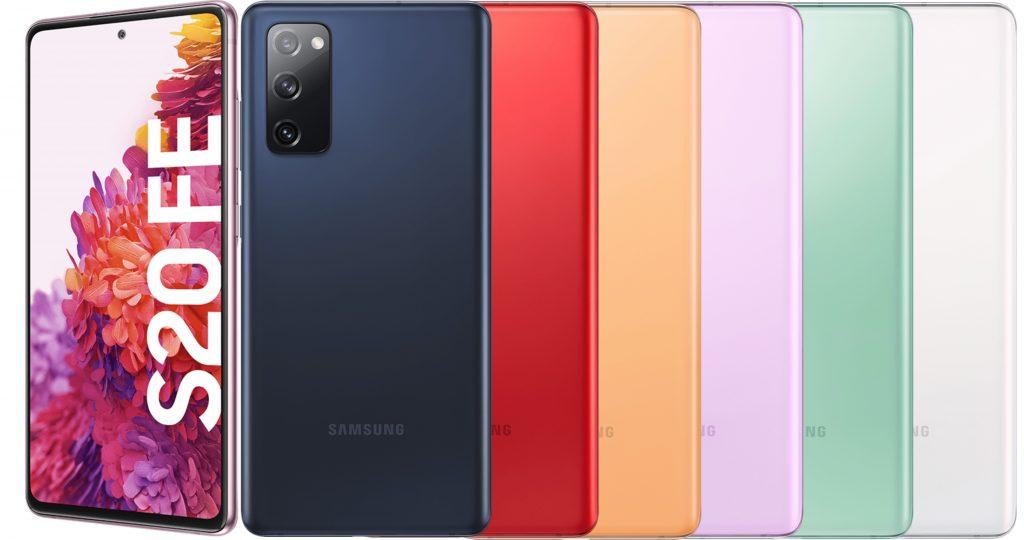 Galaxy S20 FE in unterschiedlichen Farben