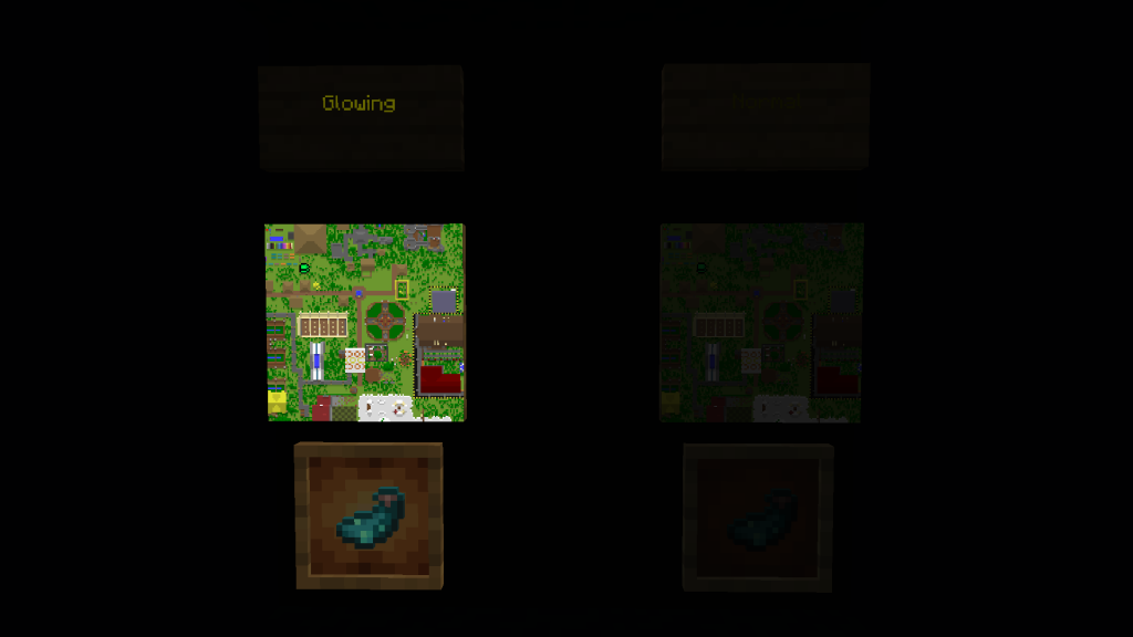 Minecraft Glowing Objects