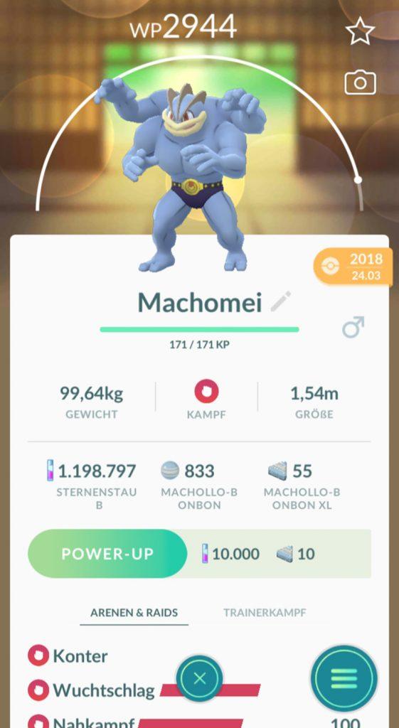 Pokémon GO Machomei Bonbons