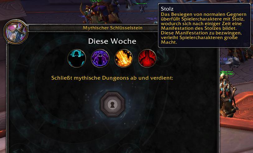 WoW Mythic Dungeons Übersicht Stolz