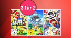 """""""3 für 2""""-Aktion mit Rabatt auf Nintendo Switch-Spiele bei Amazon"""
