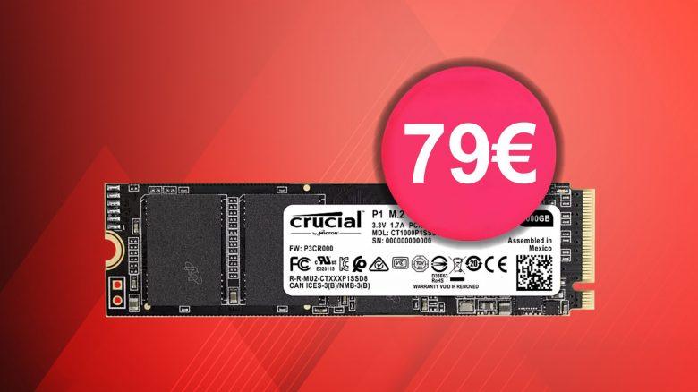 Schnelle SSD Crucial P1 knapp über Bestpreis und mehr bei Amazon