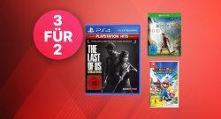 MediaMarkt 3 kaufen, 2 zahlen: Spiele für PS4, Switch & Xbox im Angebot