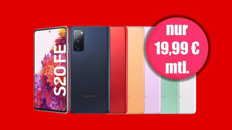 Galaxy S20 FE mit Tarif aktuell genauso günstig wie ohne bei MediaMarkt