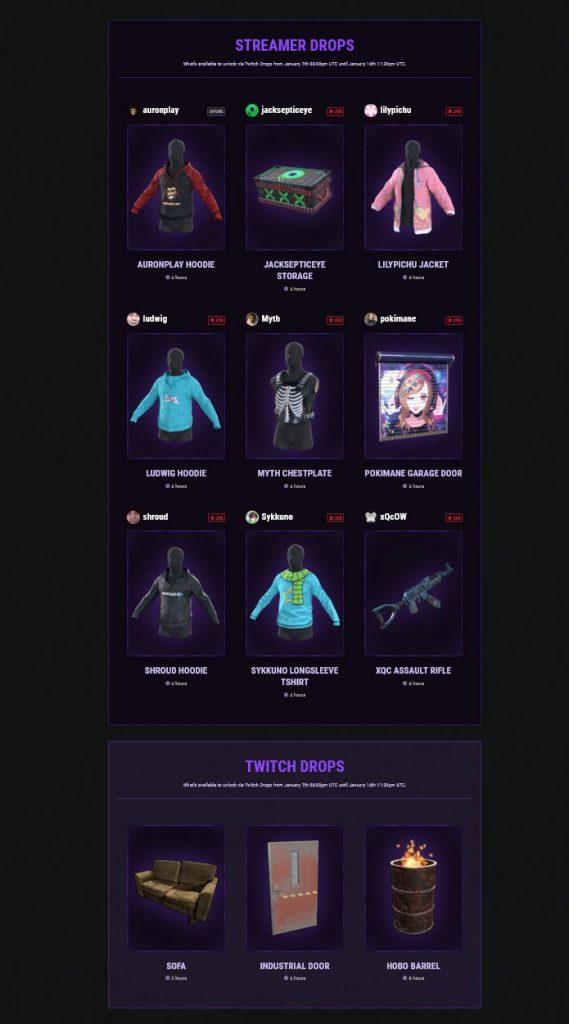 rust twitch drops belohnungen