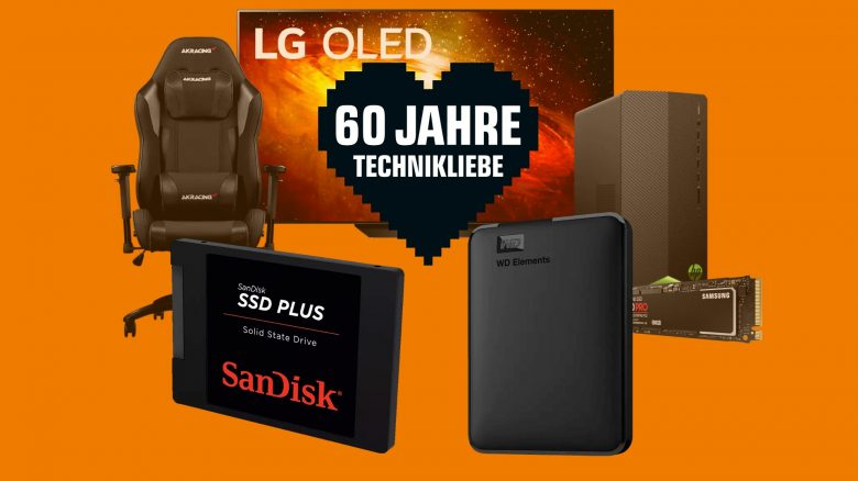 """""""60 Jahre Technikliebe"""" mit vielen Hardware-Schnäppchen bei Saturn.de"""
