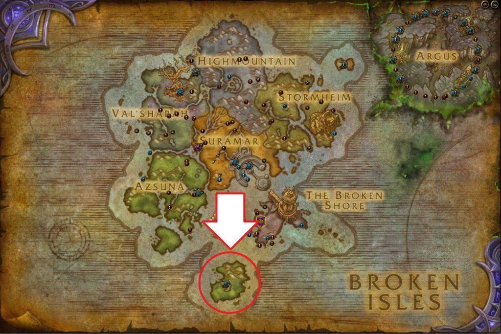 wow fathom dweller legion map eye of azshara