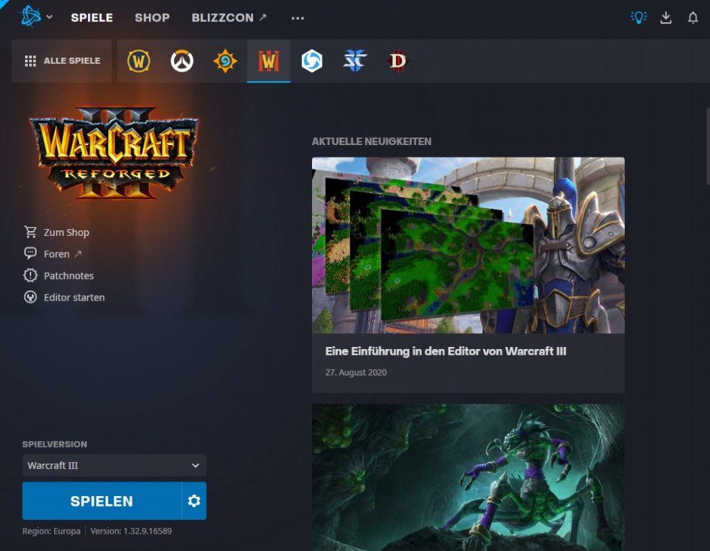 Battlenet Launcher Warcraft 3 Neuigkeiten