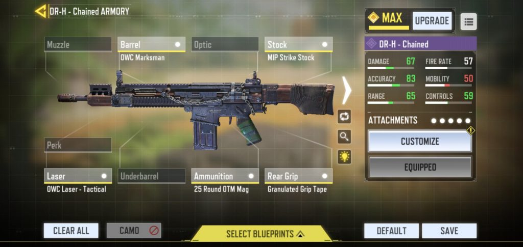 CoD Mobile DR-H Chaned Armory