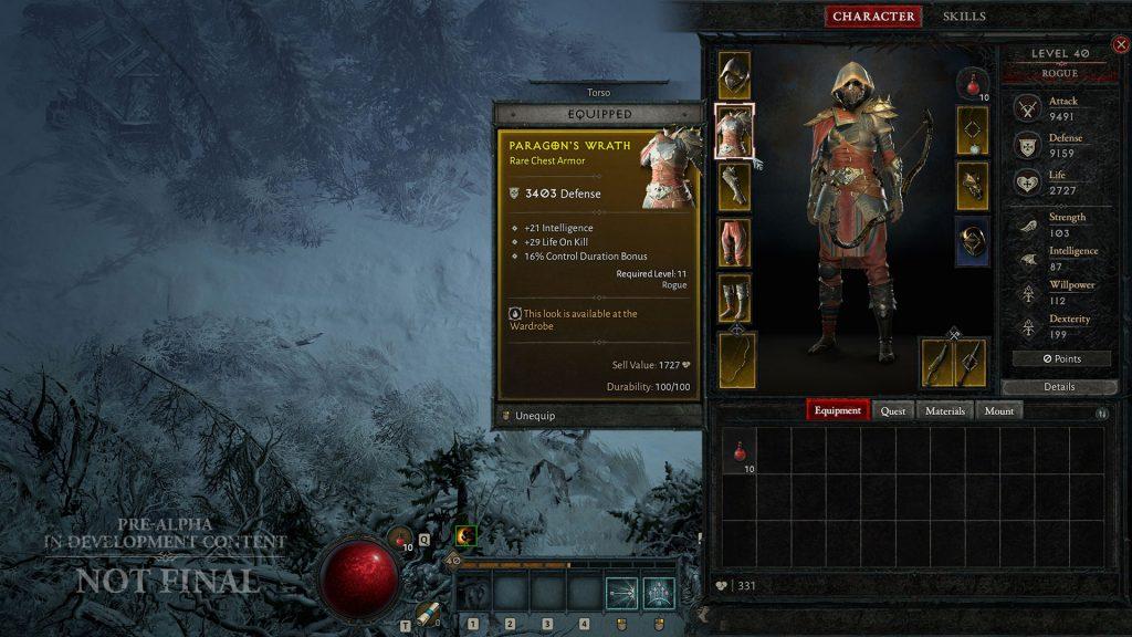 Diablo 4 Jägerin Inventar