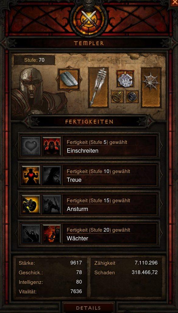 Diablo 3 Templer Inventar