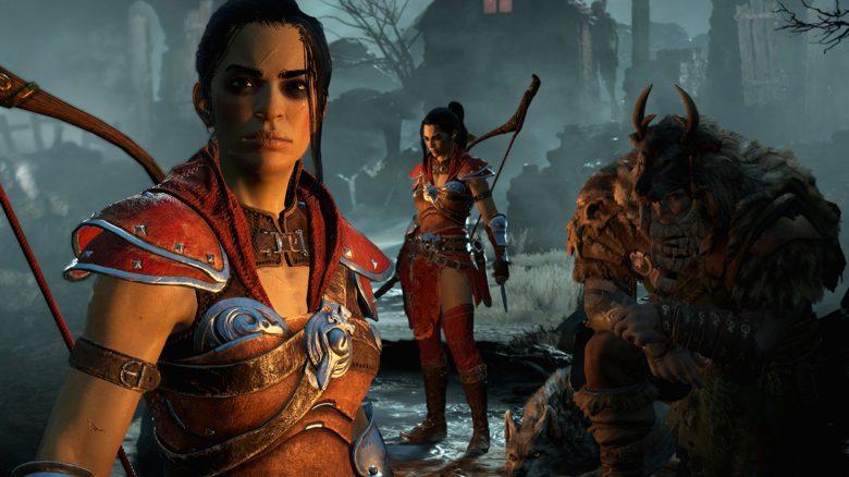 Diablo 4 Rogue Jägerin Titel Lagerfeuer