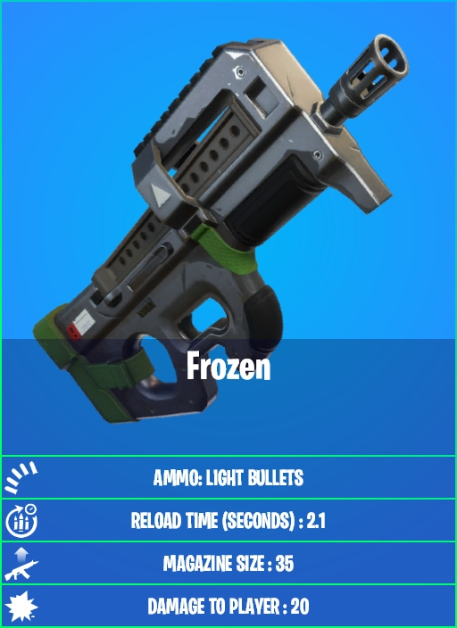 Fortnite Frozen SMG
