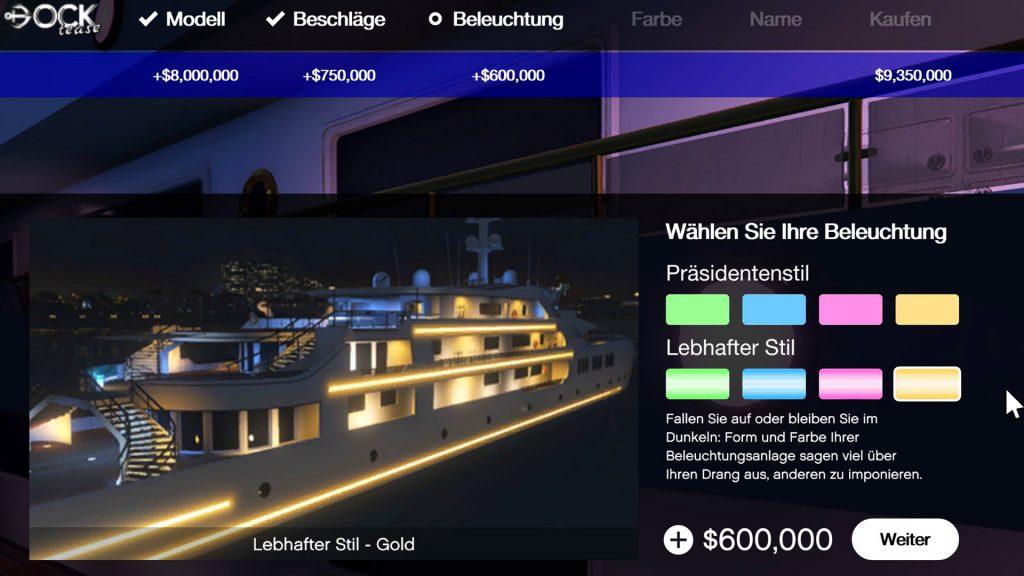 GTA Online Yacht Stil