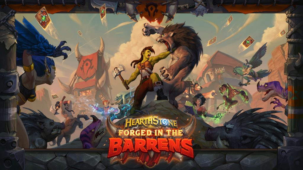Hearthstone Forged in the Barrens Keyart