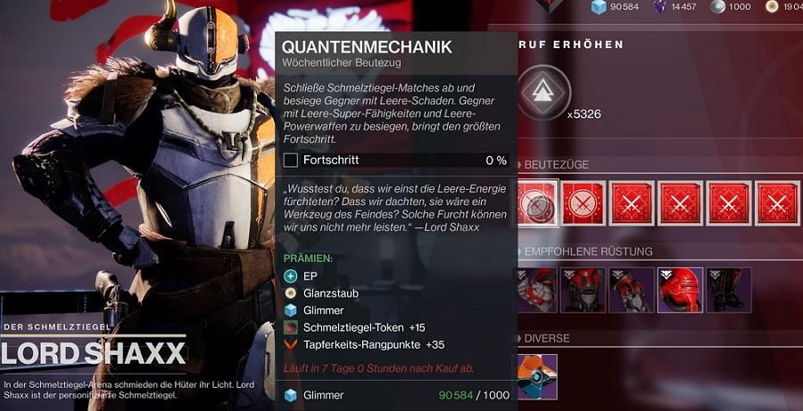 Lord Shaxx Bounts Beutezüge Destiny 2 NPC