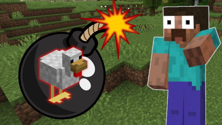 Minecraft Bomb shocked Steve titel title 1280x720