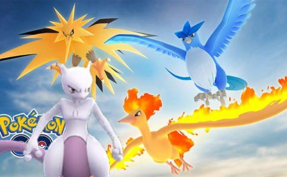 Raid Stunde Mewtu Vögel Pokemon GO