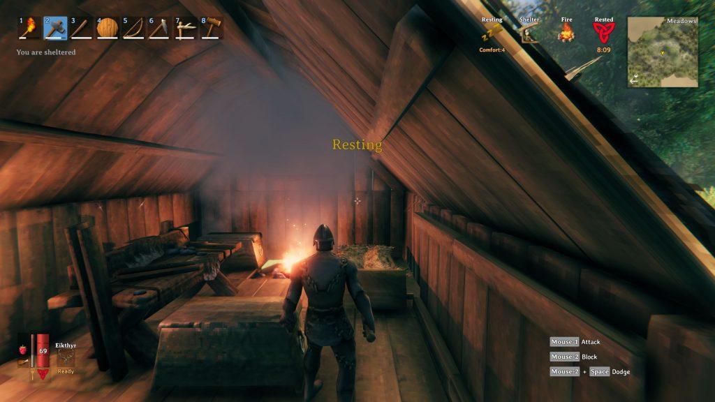 Valheim Feuer im Haus ohne Kamin