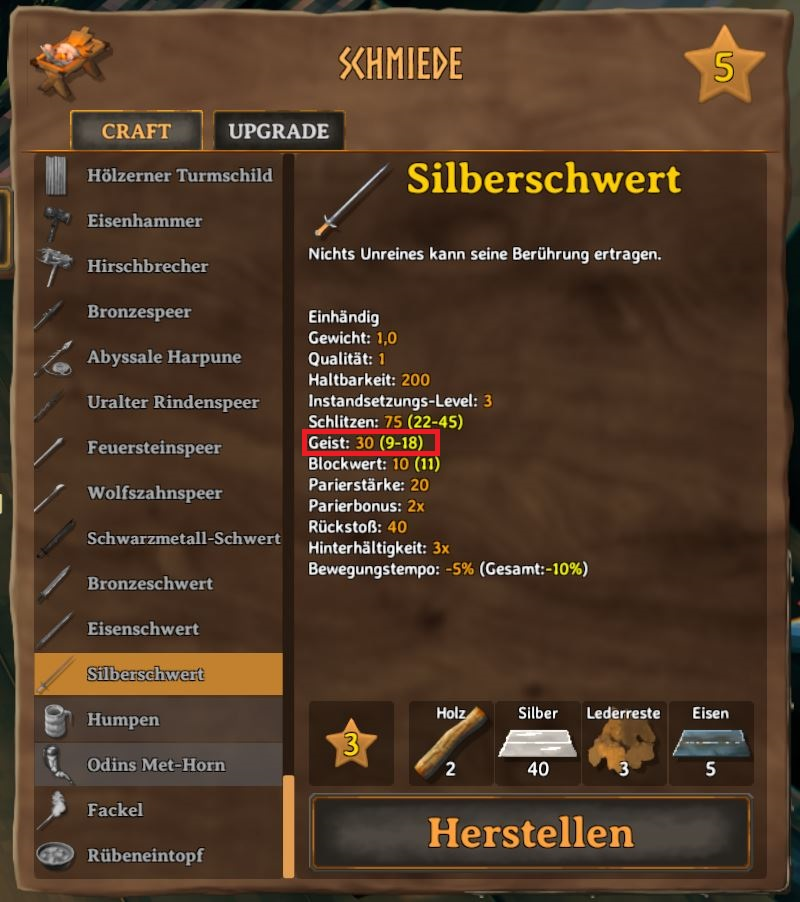 Valheim Silberschwert Schmiede