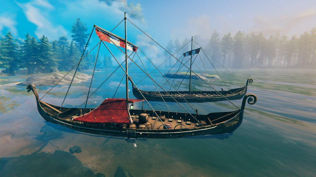 Valheim Trailer Ship und LAngschiff Vergleich