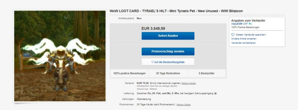 WoW-Ebay-Tyrael