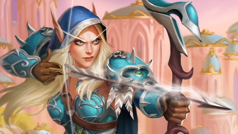 WoW Hearthstone Warcraft Sylvanas High Elf titel title 1280x720