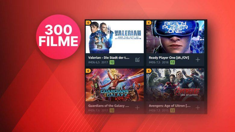Amazon Prime Video: Über 300 Filme für je 99 Cent leihen