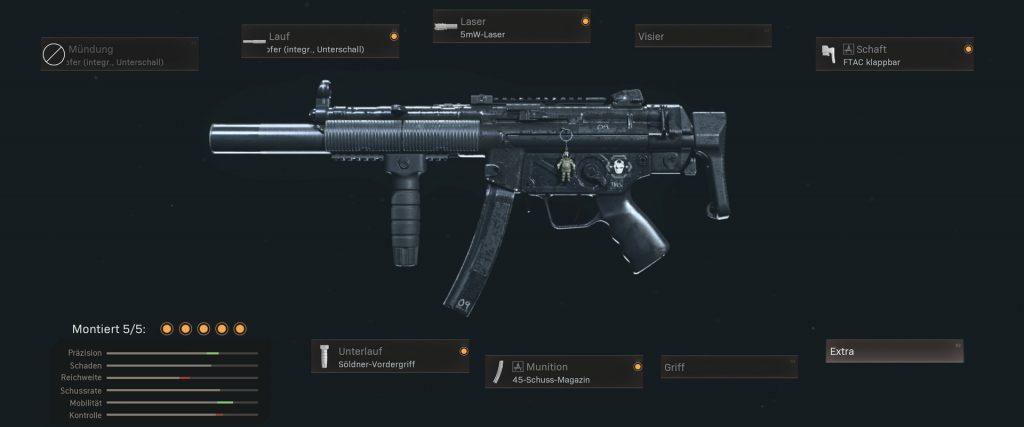cod warzone beliebtesten waffen mit setups januar 2021 - MP5 cod mw